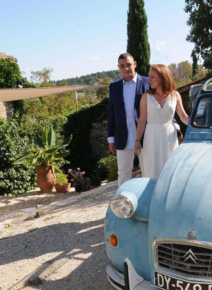 Un mariage sur la terrasse du Jas de Péguier en provence